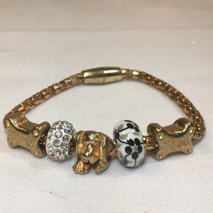 Jewelry - Dog bead Charm bracelet magnetic
